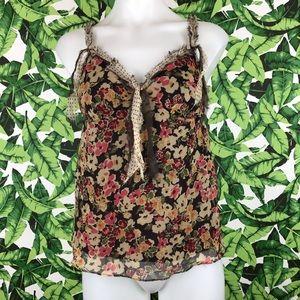 5 for $25 Rebecca Taylor Floral Polka Dot Blouse